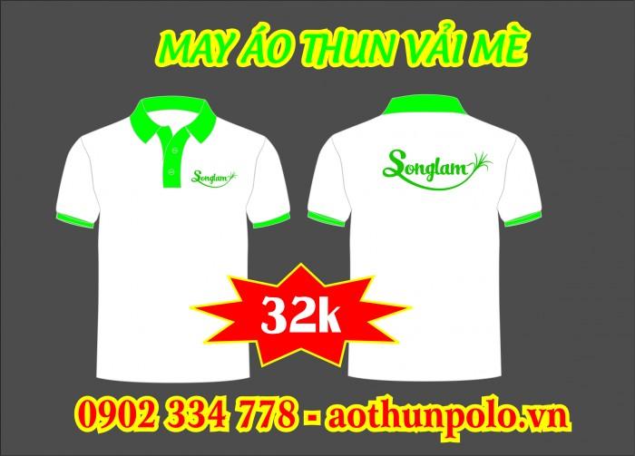Xưởng may áo thun vải mè giá 32k - áo thun quảng cáo giá rẽ