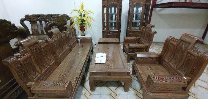 Bộ bàn ghế âu á hộp gỗ mun đuôi công13
