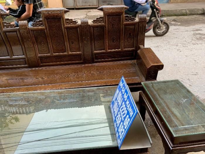 Bộ bàn ghế âu á hộp gỗ mun đuôi công17