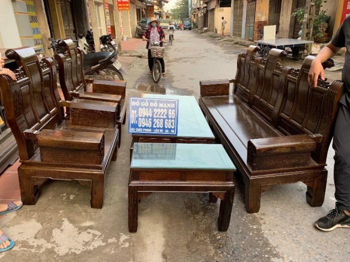 Bộ bàn ghế âu á hộp gỗ mun đuôi công20