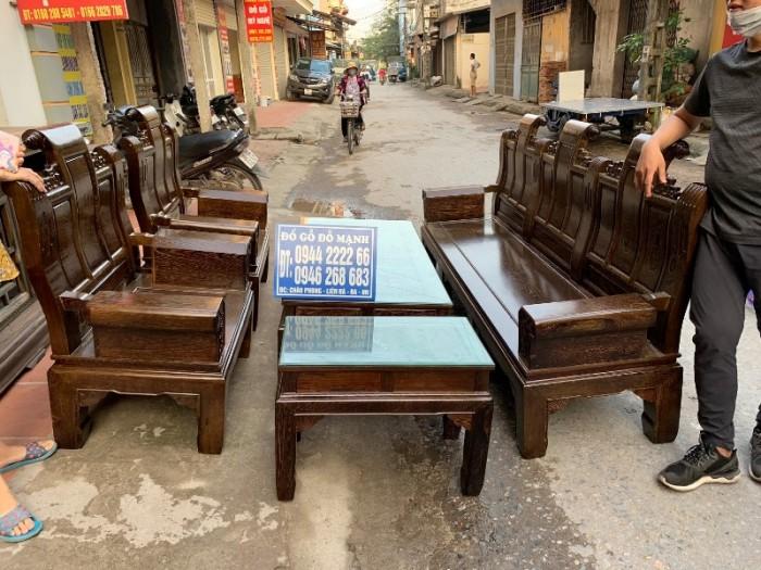 Bộ bàn ghế âu á hộp gỗ mun đuôi công14