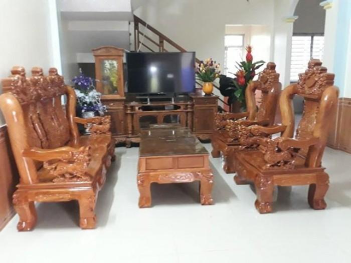 Bộ Bàn Ghế Nghê Đỉnh 3 đầu tay 12 gỗ gõ đỏ,kate13