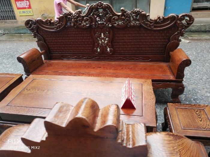 Bộ bàn ghế đồng kỵ kiểu hoàng gia gỗ mun đuôi công16