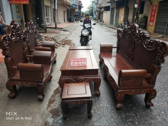 Bộ bàn ghế đồng kỵ kiểu hoàng gia gỗ mun đuôi công14