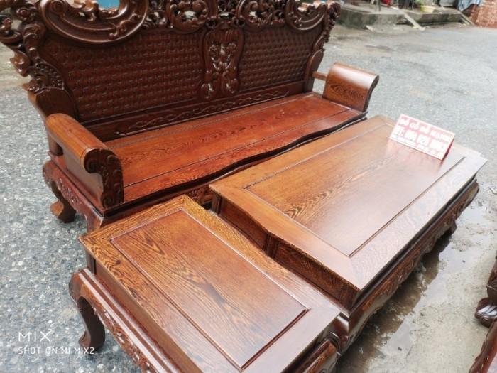 Bộ bàn ghế đồng kỵ kiểu hoàng gia gỗ mun đuôi công15