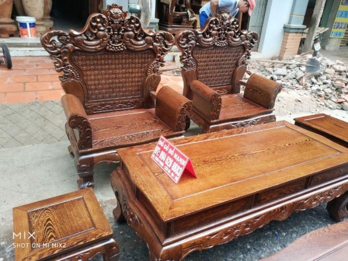 Bộ bàn ghế đồng kỵ kiểu hoàng gia gỗ mun đuôi công17