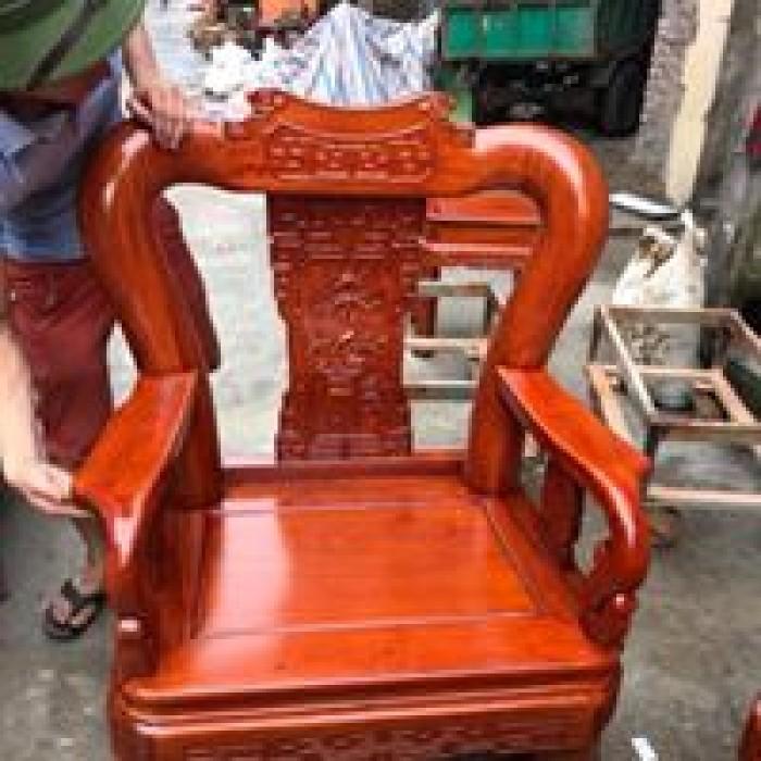 Bộ Bàn Ghế Minh Quốc Triện gỗ hương đá8