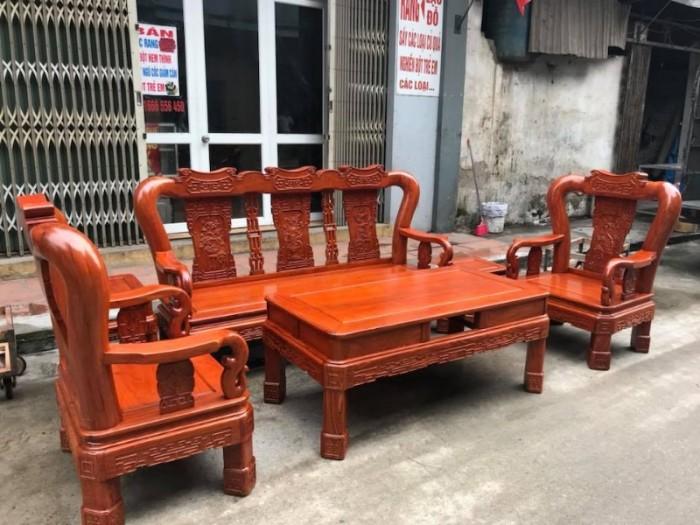Bộ Bàn Ghế Minh Quốc Triện gỗ hương đá4