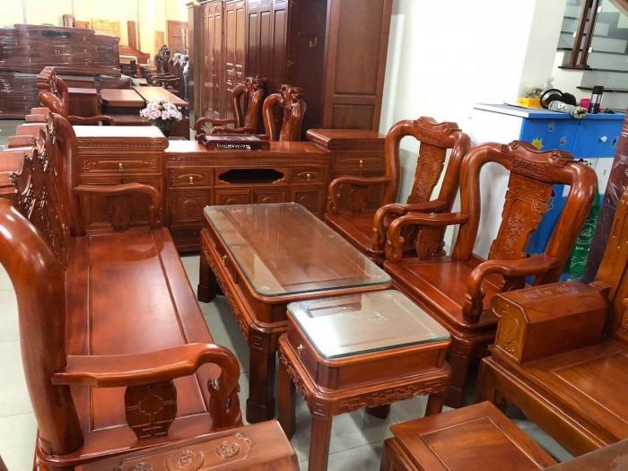 Bộ bàn ghế minh quốc triện gỗ gõ đỏ2