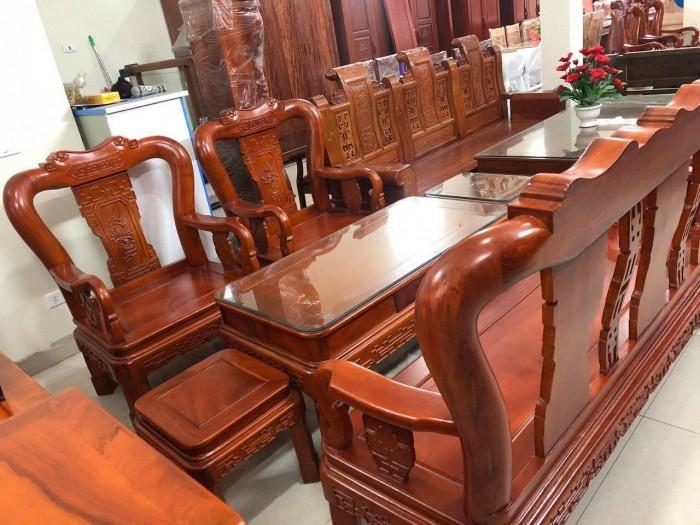 Bộ bàn ghế minh quốc triện gỗ gõ đỏ0