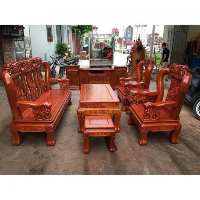 Bộ bàn ghế giả cổ minh quốc voi gỗ hương đá4