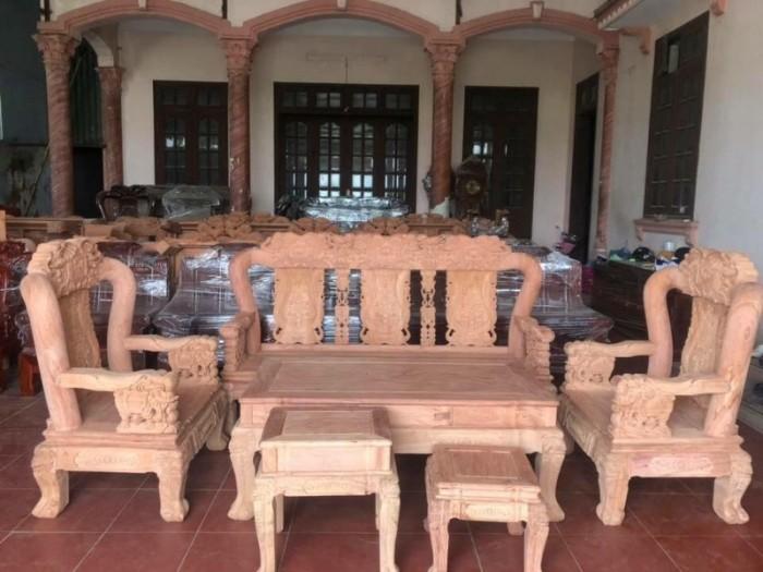 Bộ bàn ghế giả cổ minh quốc voi gỗ hương đá5