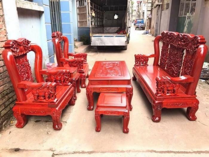 Bộ bàn ghế giả cổ minh quốc voi gỗ hương đá6