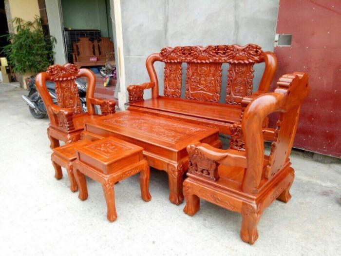 Bộ bàn ghế giả cổ minh quốc voi gỗ hương đá7
