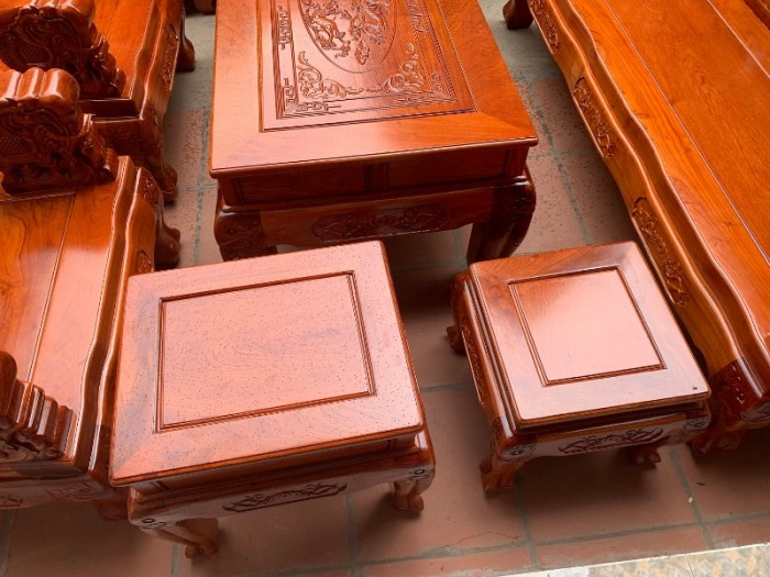 Bộ bàn ghế giả cổ minh quốc voi gỗ hương đá15
