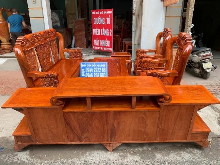 Bộ bàn ghế giả cổ minh quốc voi gỗ hương đá14