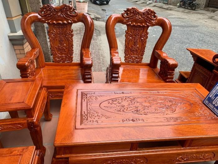 Bộ bàn ghế giả cổ minh quốc voi gỗ hương đá12