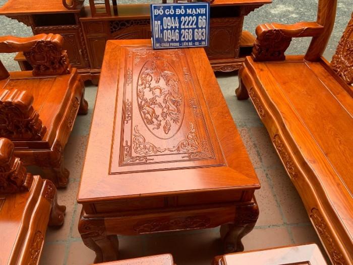 Bộ bàn ghế giả cổ minh quốc voi gỗ hương đá11
