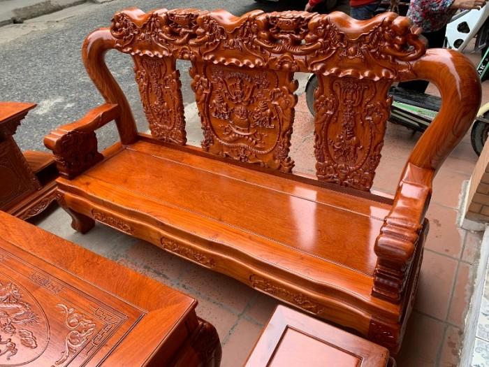 Bộ bàn ghế giả cổ minh quốc voi gỗ hương đá10