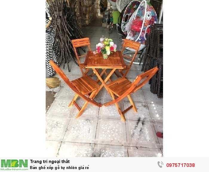 Bàn ghế xếp gỗ tự nhiên giá rẻ0