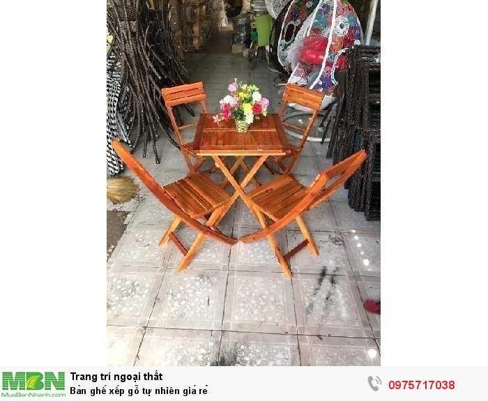 Bàn ghế xếp gỗ tự nhiên giá rẻ1