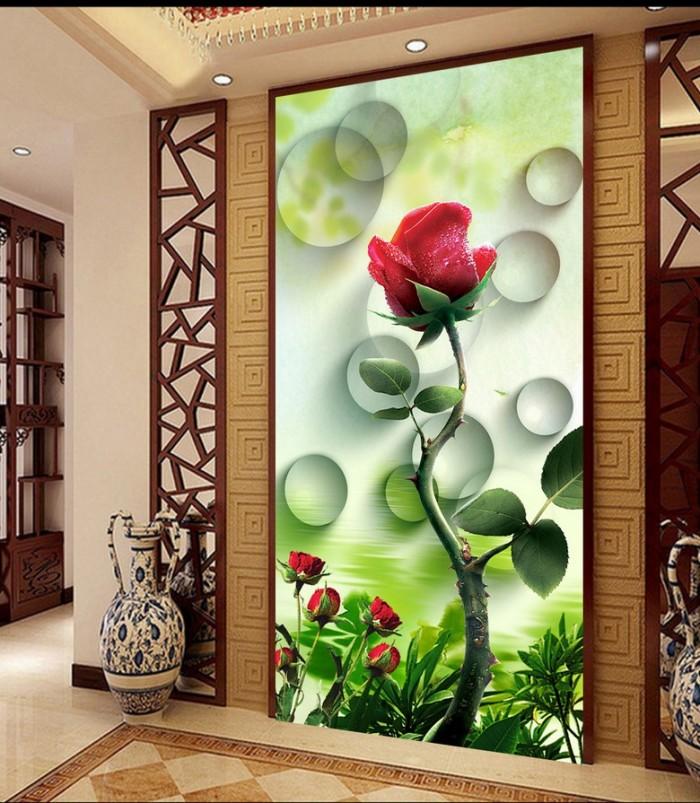 gạch tranh 3d hoa hồng trang trí1