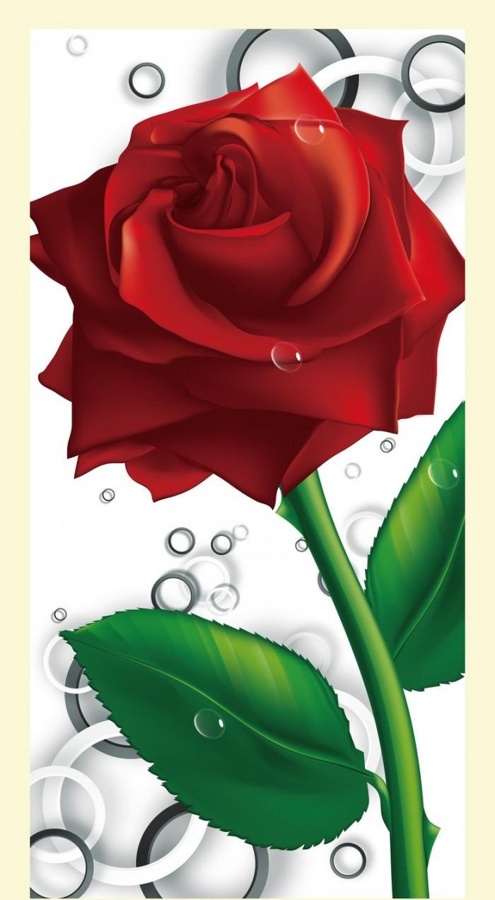gạch tranh 3d hoa hồng trang trí
