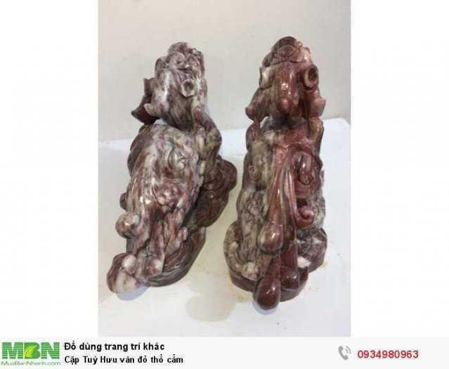 Cặp Tuỳ Hưu  vân đỏ  thổ cẩm ( sỉ & lẻ ib )3