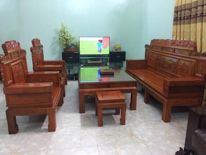 Bộ bàn ghế giá cổ phù dung gỗ hương đá14