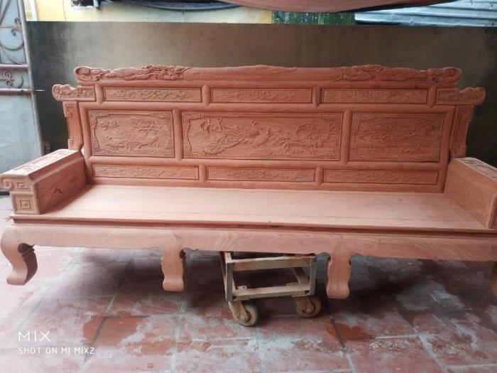 Bộ bàn ghế giá cổ phù dung gỗ hương đá16