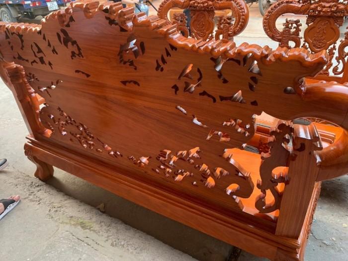 Bộ bàn ghế nghê đỉnh tay khuỳnh gỗ gõ đỏ8