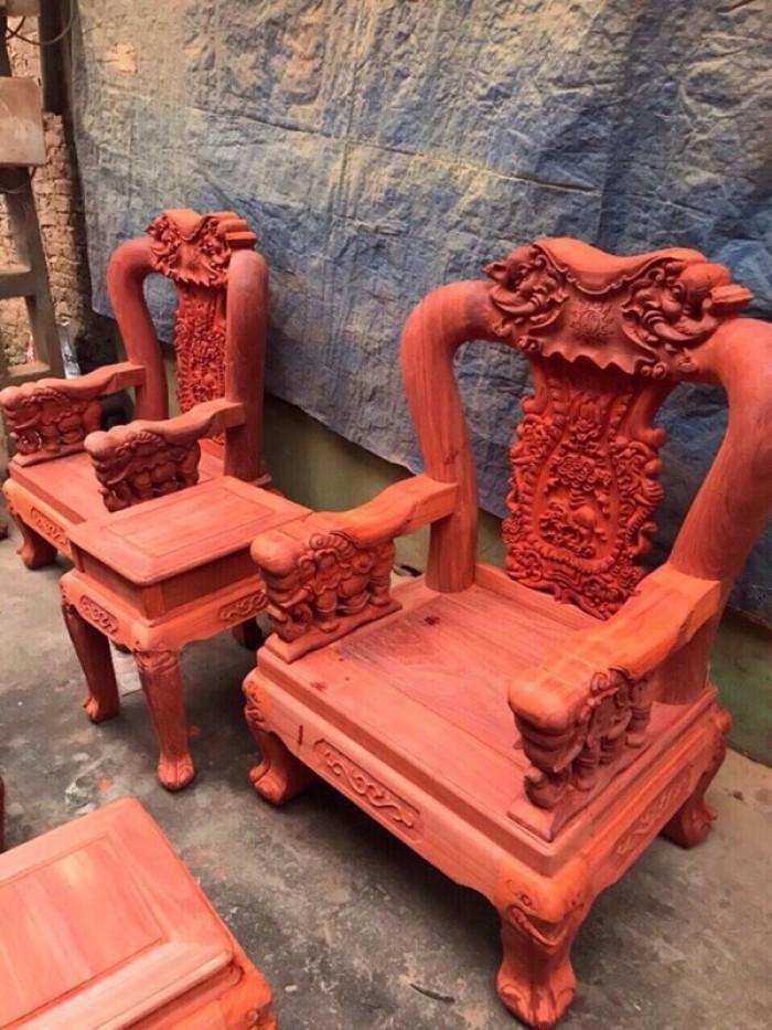 Bộ bàn ghế minh quốc voi gỗ hương nam phi tay 1218