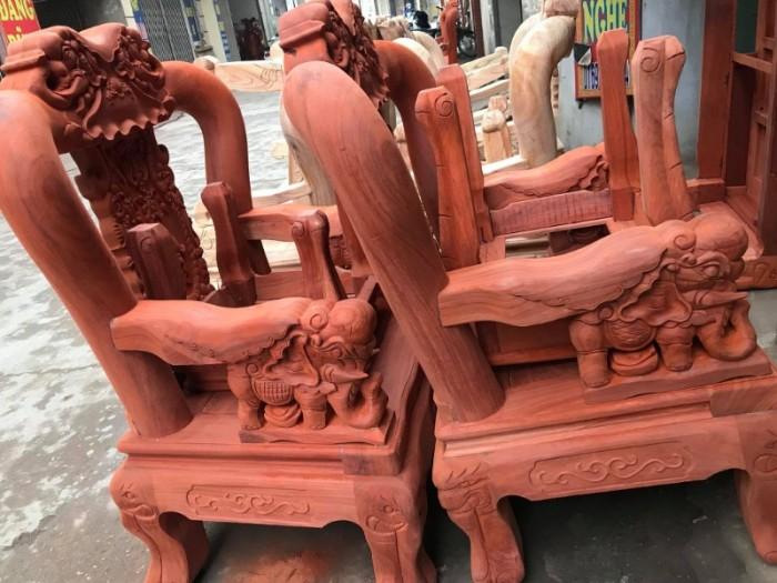 Bộ bàn ghế minh quốc voi gỗ hương nam phi tay 1210