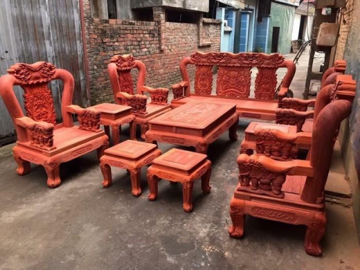 Bộ bàn ghế minh quốc voi gỗ hương nam phi tay 1213