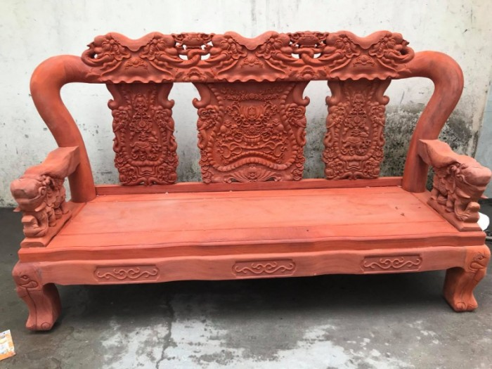 Bộ bàn ghế minh quốc voi gỗ hương nam phi tay 1216