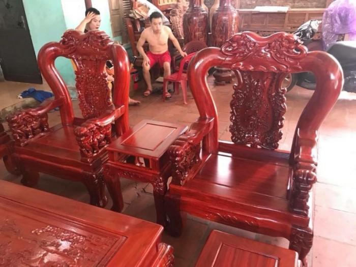Bộ bàn ghế minh quốc voi gỗ hương nam phi tay 1212