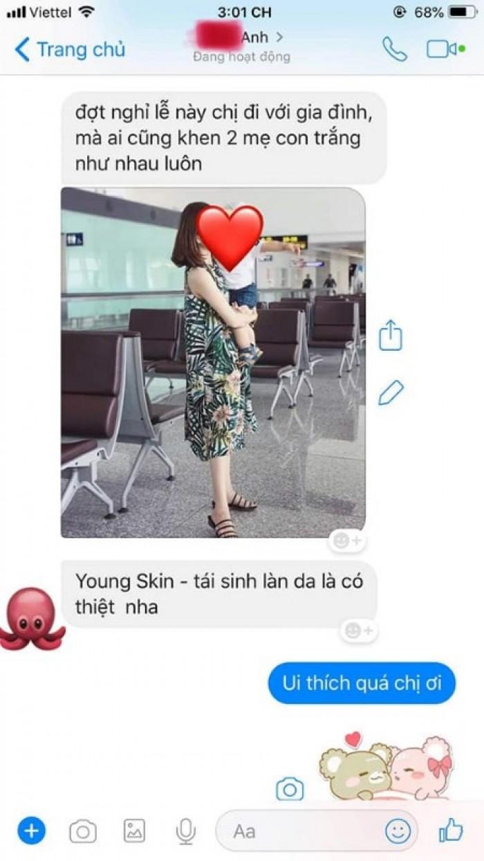 Phản hồi của khách dùng tắm trắng củ dền Young Skin4