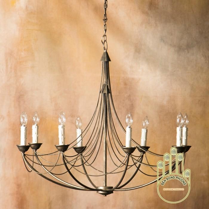 Đèn chùm mỹ thuật trang trí cho phòng khách cổ điển
