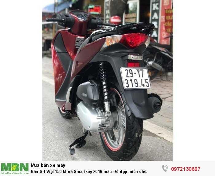 Bán SH Việt 150 khoá Smartkey 2016 màu Đỏ đẹp miễn chê.