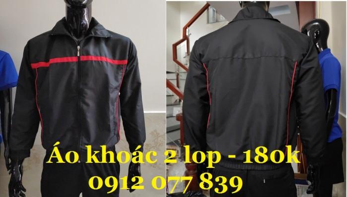 áo khoác dù màu đen 2 lớp