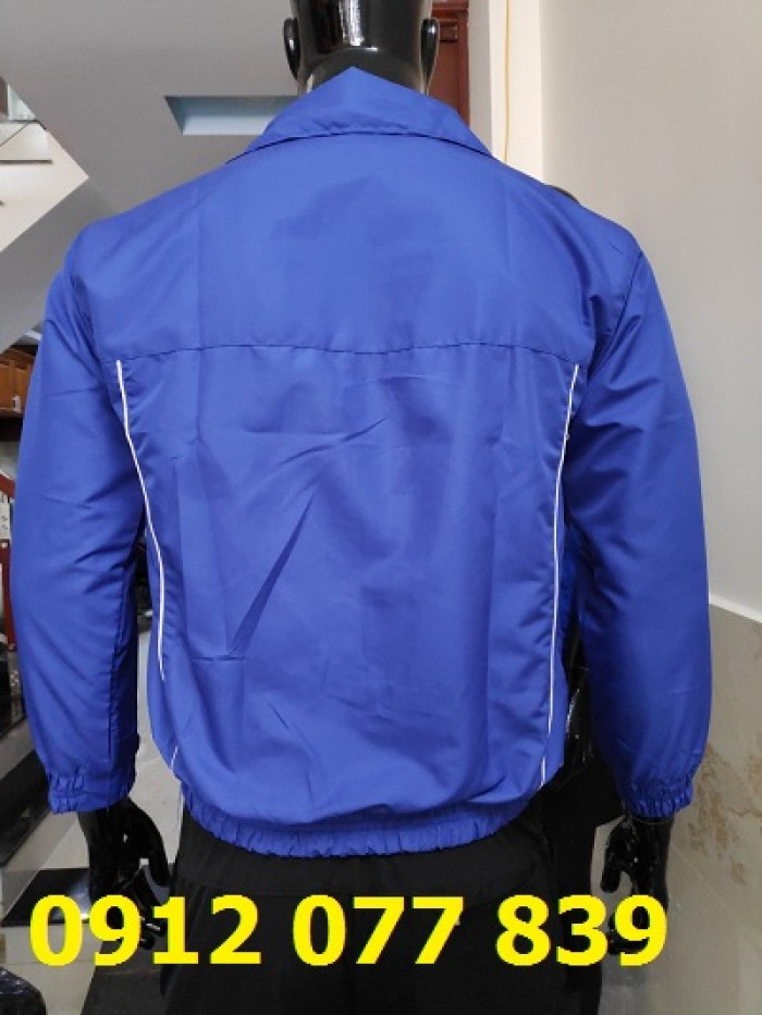 áo khoác nam dù caro xanh