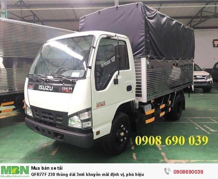 QFR77F 230 thùng dài 3m6 khuyến mãi định vị, phù hiệu