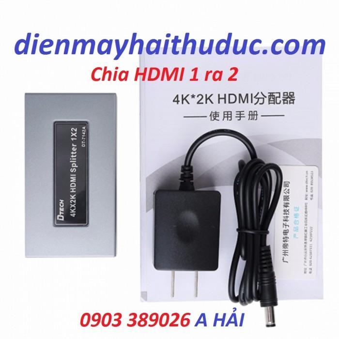 Bộ chia HDMI 2 cổng DT-7142A hàng chính hãng, kéo dài đến 25m