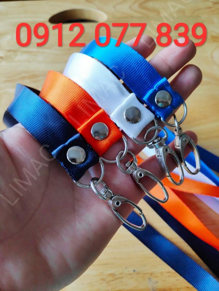 dây đeo bảng tên màu xanh, cam, trắng