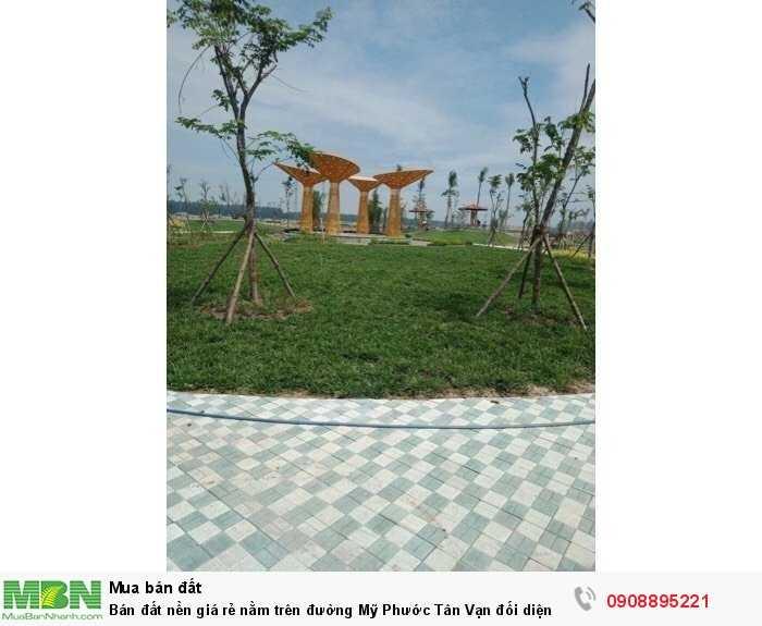 Bán đất nền giá rẻ nằm trên đường Mỹ Phước Tân Vạn đối diện bệnh viện tỉnh 1500 giường đang xây dựng