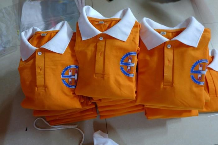 xưởng may áo thun đồng phục màu cam giá rẽ