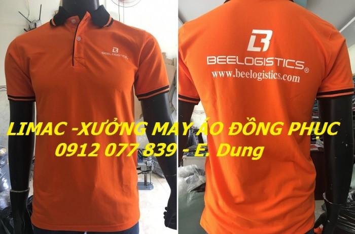 May in thêu áo thun công ty màu cam