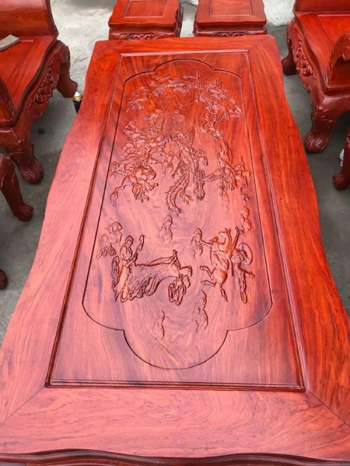 Bộ bàn ghế phòng khách kiểu hoàng gia gỗ hương đá16