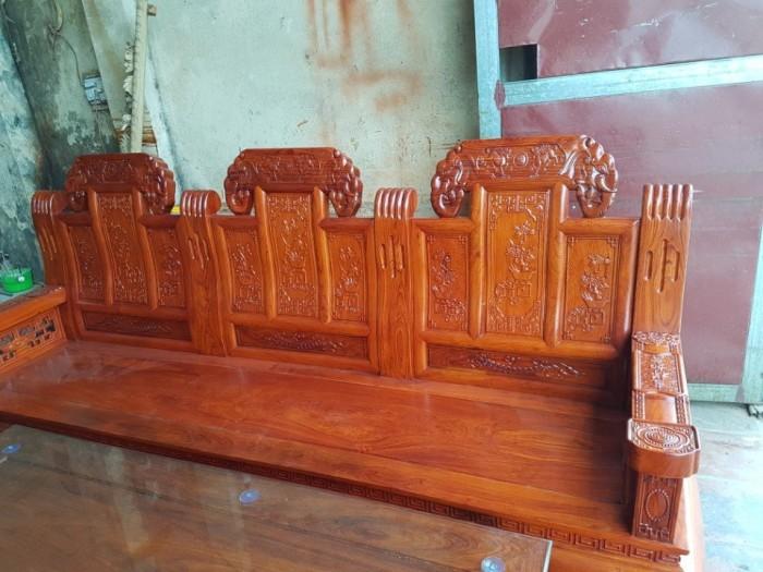 Bộ bàn ghế âu á như ý voi tay đặc gỗ hương đá3