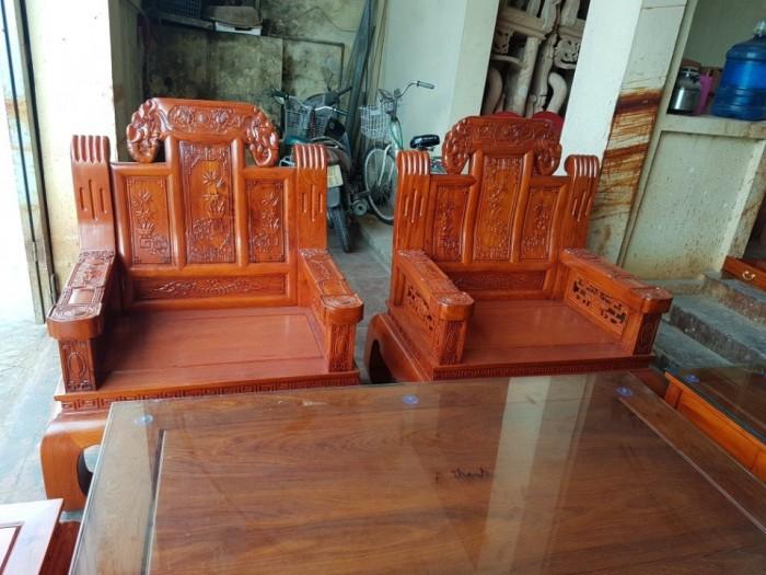 Bộ bàn ghế âu á như ý voi tay đặc gỗ hương đá2